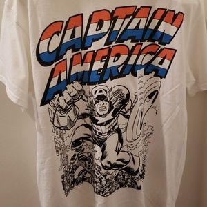 5d0645bb Marvel Shirts | Disney Captain America Young Mens Graphic Tshirt ...